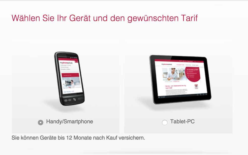 myphoneschutz Versicherung für Smartphone und Tablet