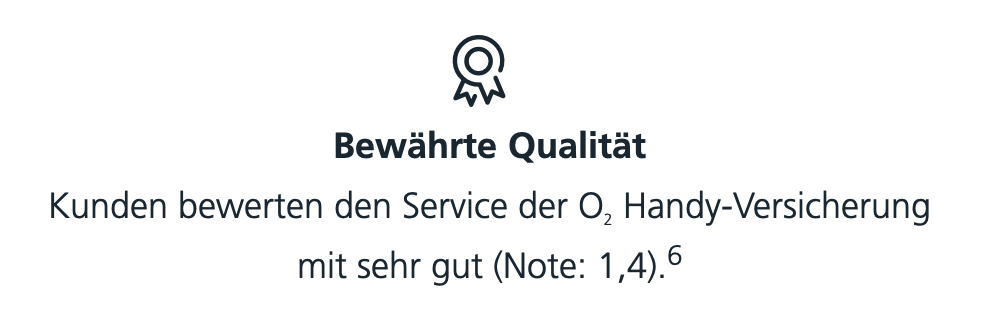 o2 Versicherung bewährte Qualität