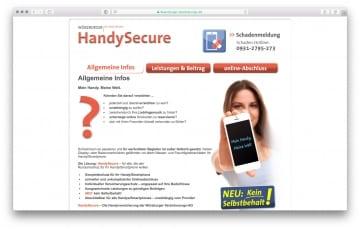 Handysecure Webseite 2016