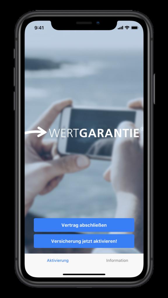Wertgarantie App für Android und iOS