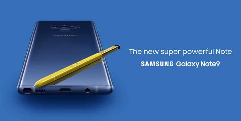 Samsung Galaxy Note 9 Schutzbrief