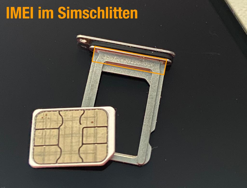 IMEI im iPhone SIM-Schlitten