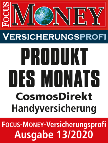 Focus Money CosmosDirekt Produkt des Monats
